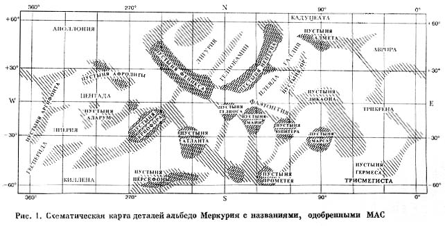 карта меркурия