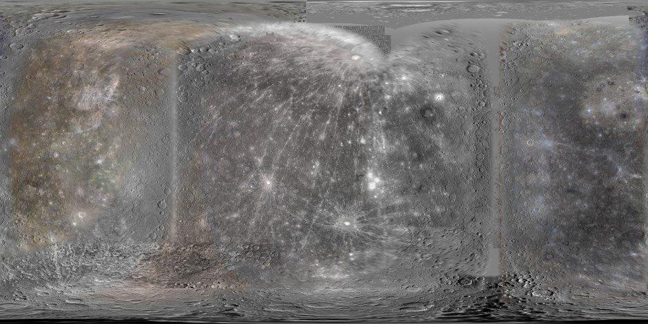 наиболее детальное на сегодняшний день изображение всей поверхности Меркурия